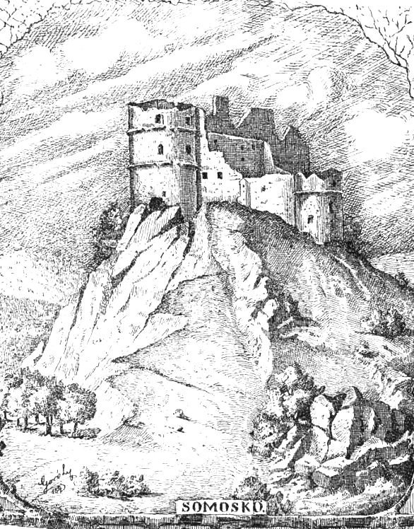Ruins of Somoskő at the 19th century. Picture at Ország-Világ mazain (1885)